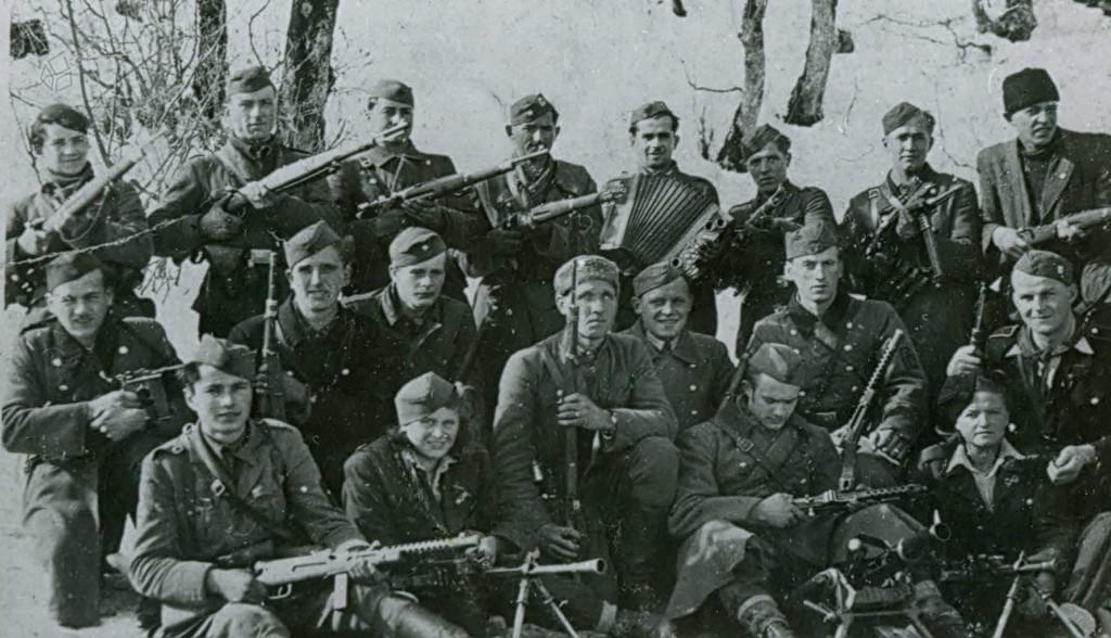 Borci Šlandrove brigade na Menini planini, november 1943
