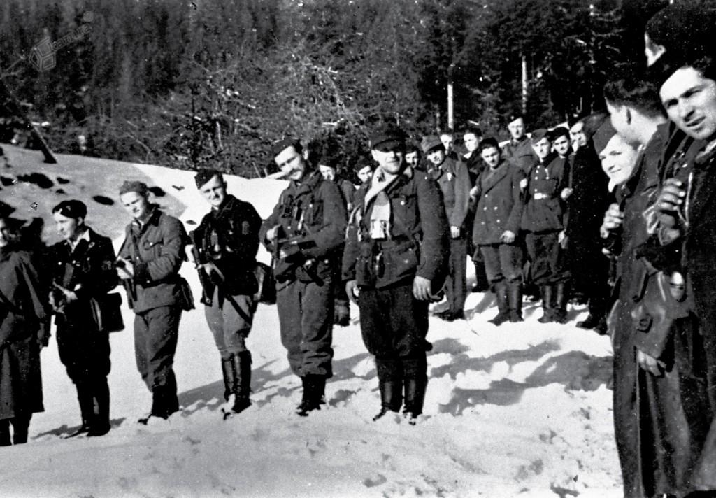 Del Koroškega bataljona Četrte operativne cone v Solčavi, konec leta 1943