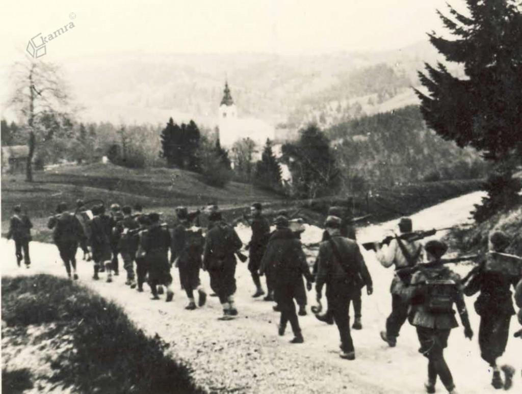 Borci Šlandrove in Zidanškove brigade, Sv. Trojica, maj 1944