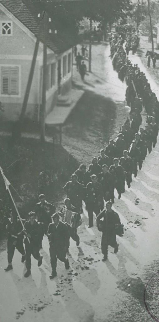 Zidanškova brigada na pohodu skozi Gornji Grad, avgust 1944