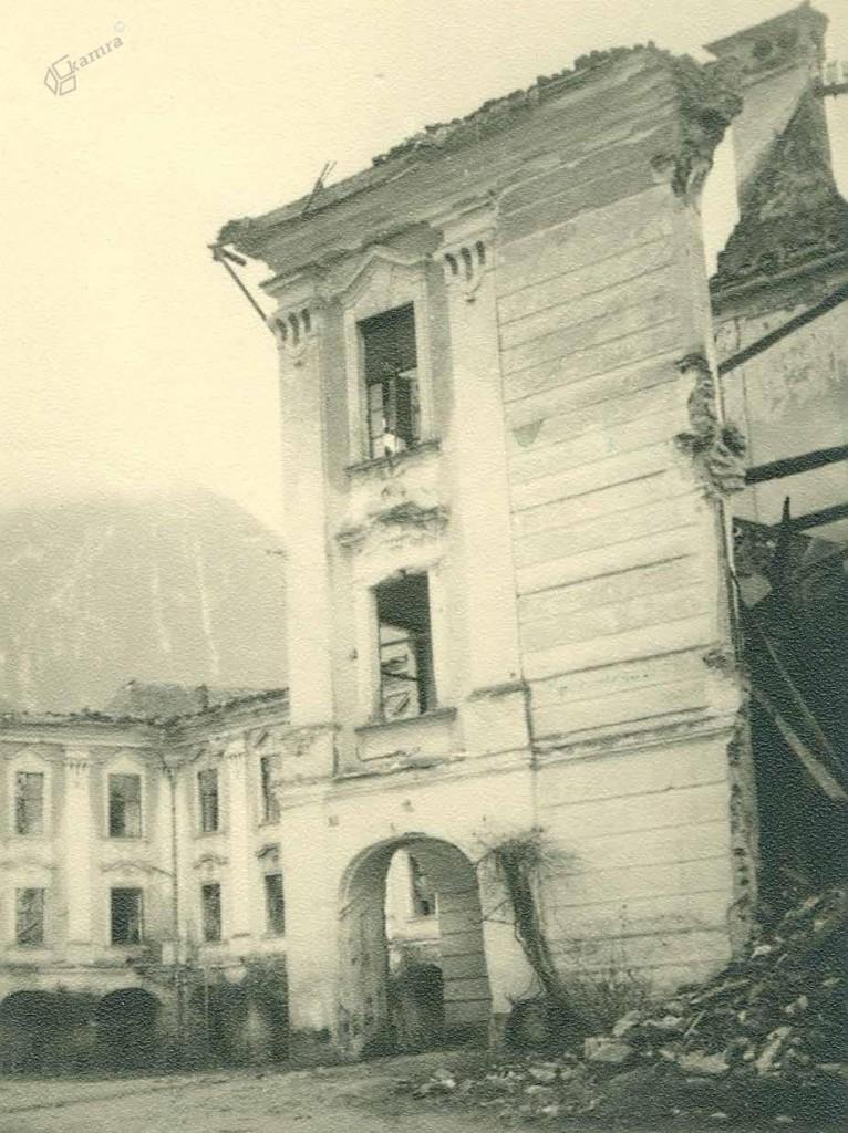 V bojih uničene in poškodovane stavbe, Gornji Grad, 31. 7. 1944
