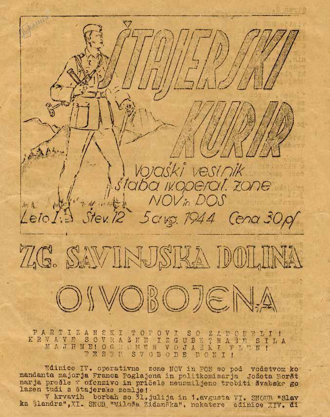 Naslovnica Štajerskega kurirja, avgust 1944
