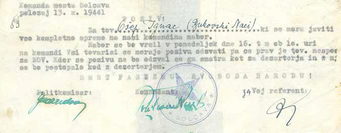 Poziv na nabor, oktober 1944