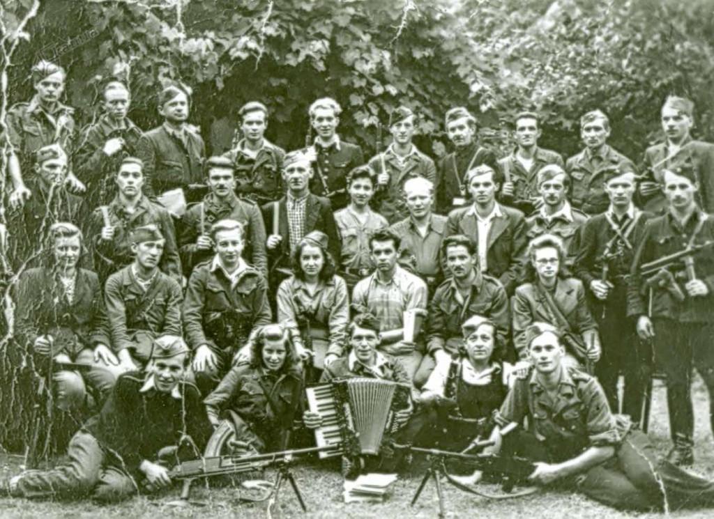 Udeleženci partijskega tečaja, Ljubno, avgust 1944