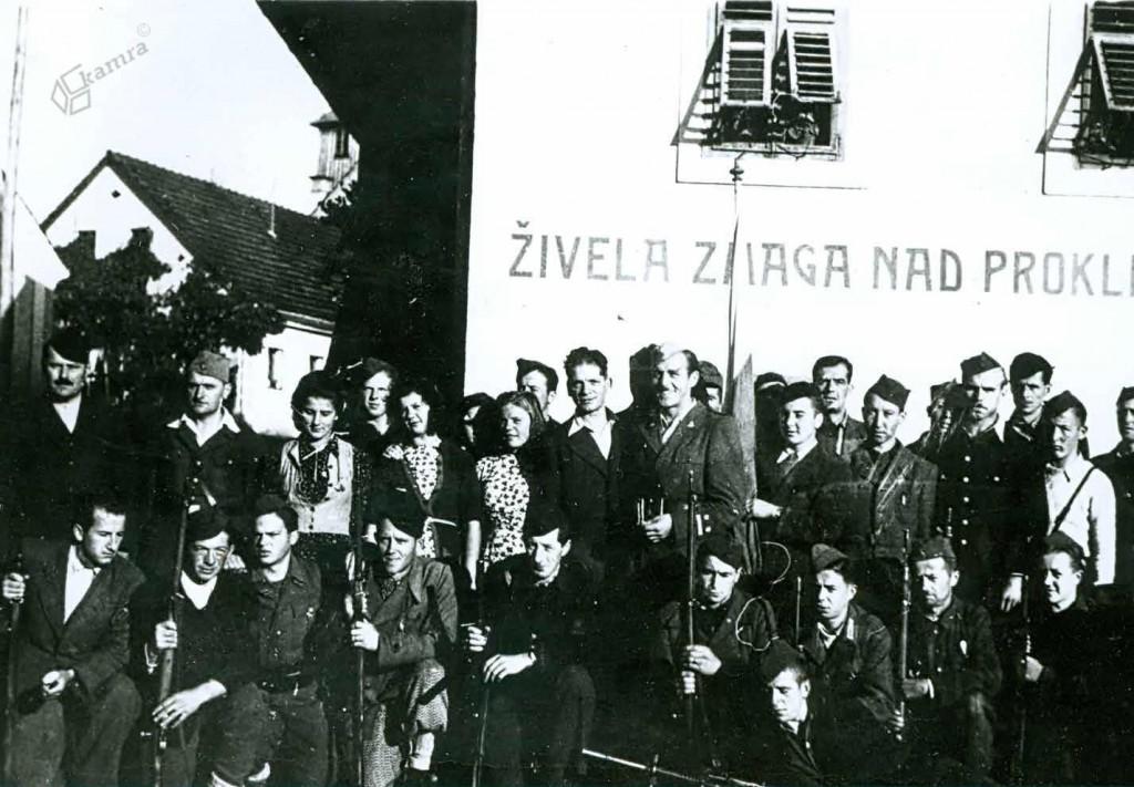 Pred komando mesta Ljubno, avgust 1944
