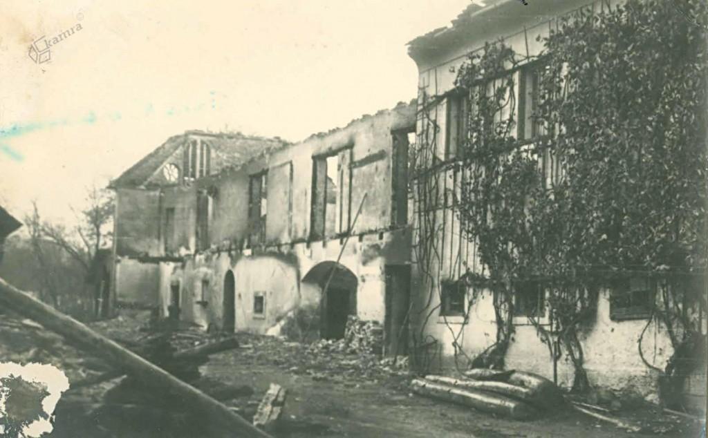 Ob nemškem vdoru požgana Bočna, oktober 1944