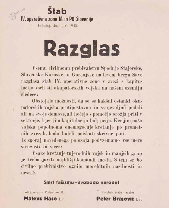 Razglas ob nemški kapitulaciji, 9. 5. 1945