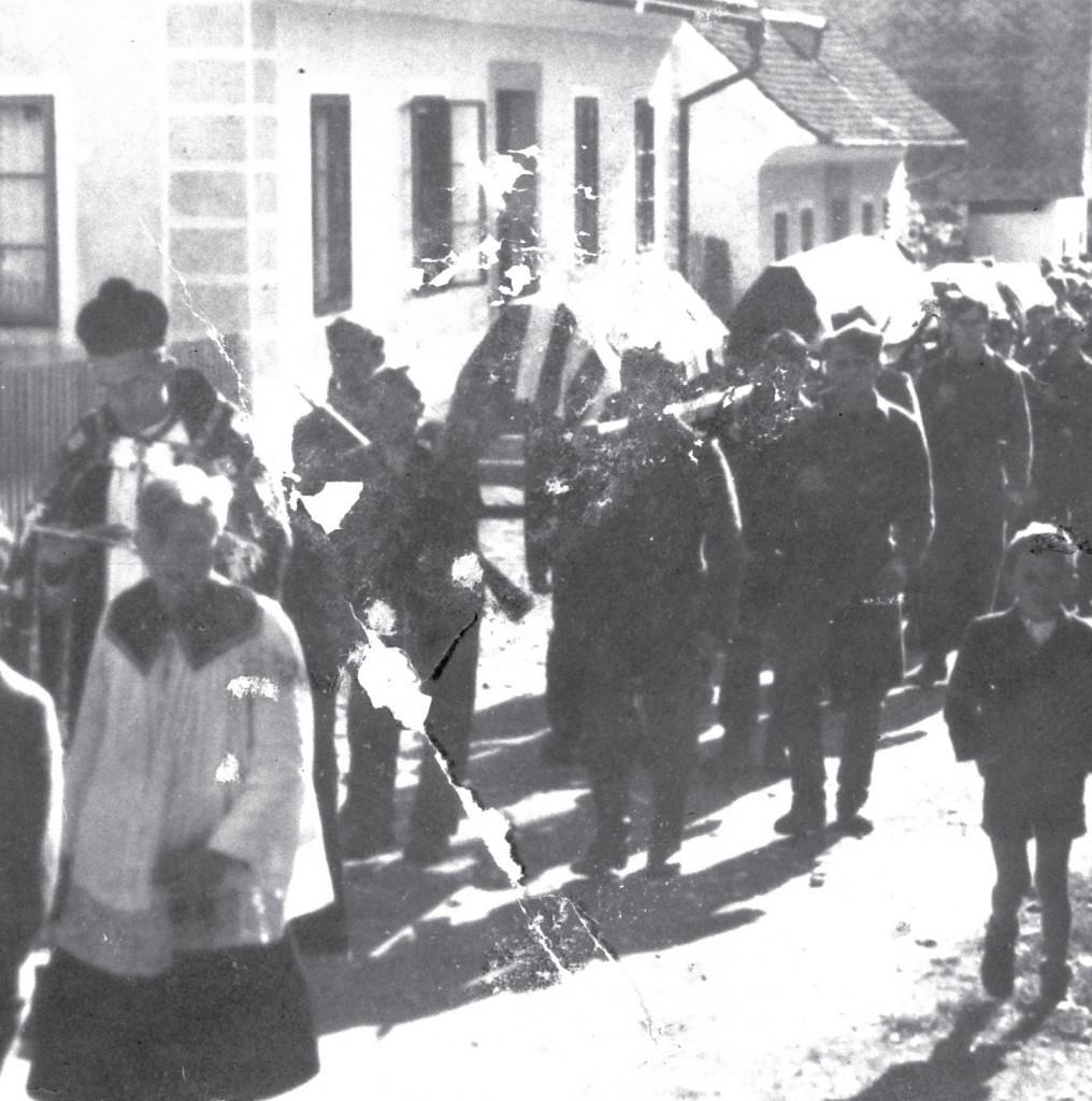 Pogreb padlih angleških letalcev, Ljubno, 20. 10. 1944