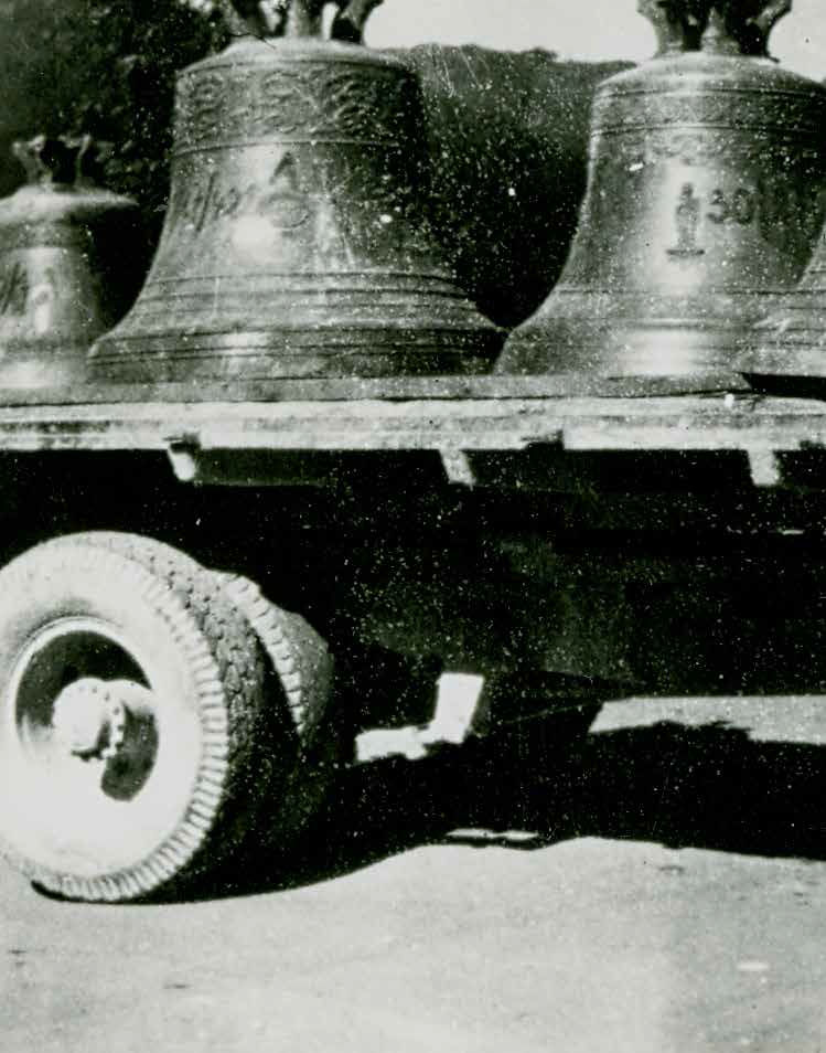 Odvoz cerkvenih zvonov za potrebe nemške vojaške industrije, Ljubno, maj 1943
