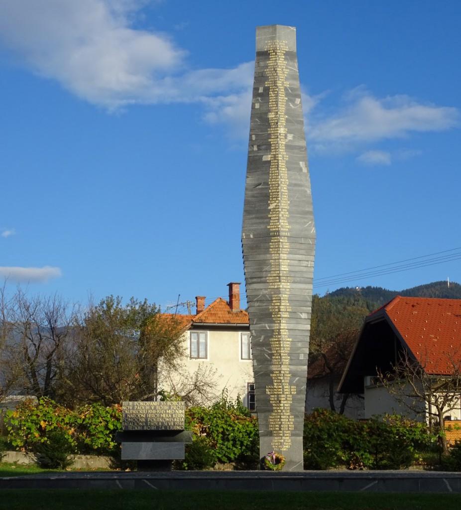 Spomenik padlih borcev in žrtev okupatorjevega nasilja Ljubno ob Savinji
