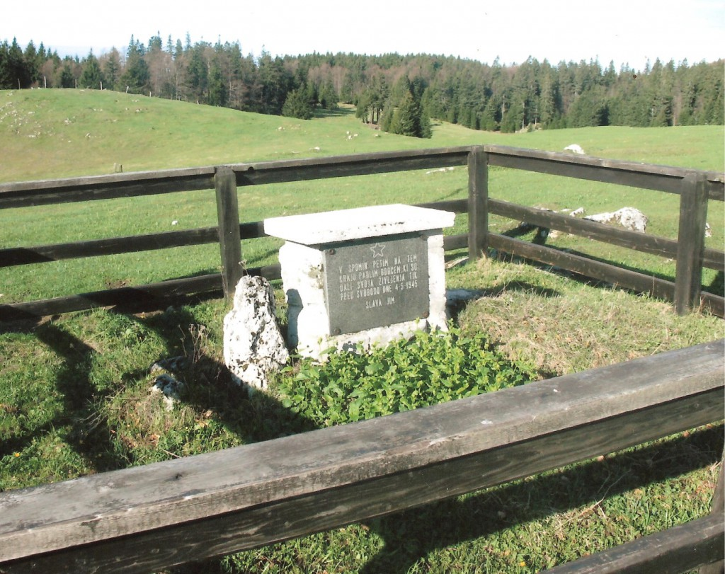 Spomenik petim padlim borcem na Poljani - Menina