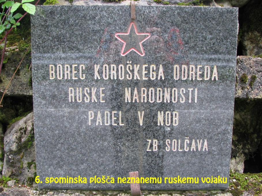 Spominska plošča neznanemu ruskemu vojaku