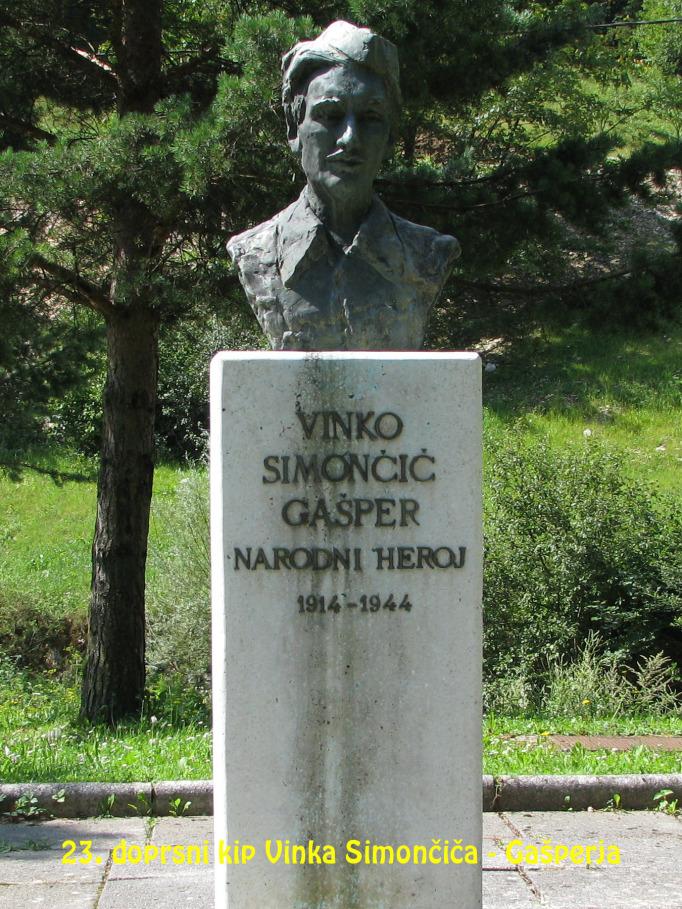 Doprsni kip Vinka Simončiča – Gašperja