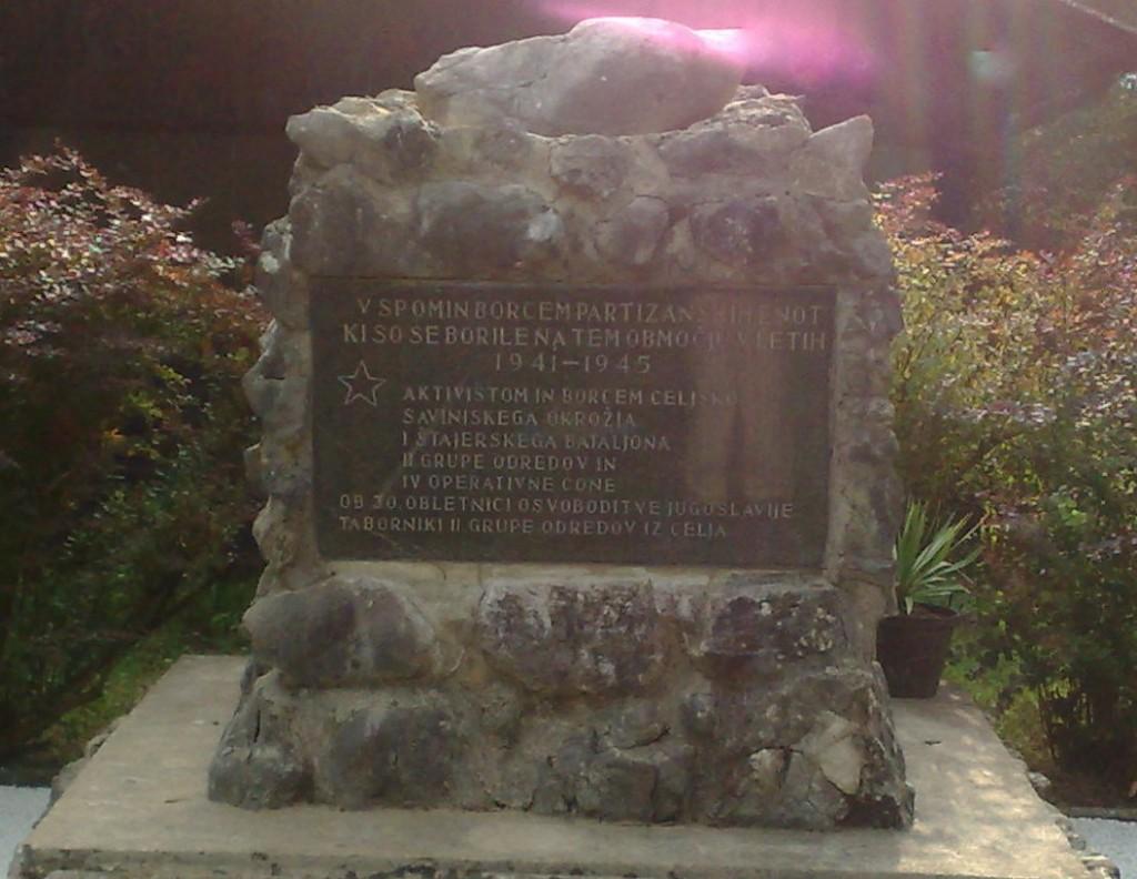 Spomenik borcem in aktivistom IV. operativne cone - Kokarje, Laze