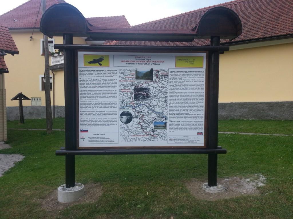 Spominska tabla Vranov let v Gornjem Gradu