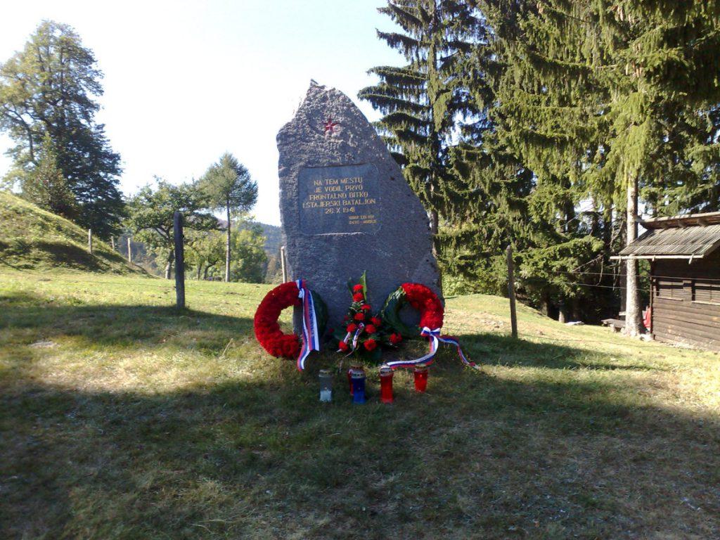 Spomenik boja 1. Štajerskega bataljona 26.10.1941 na Čreti