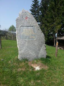 Spomenik boja 1. Štajerskega bataljona-26.10.1941 na Čreti