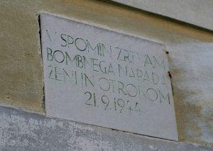 Spominska plošča 7 žrtvam na Prisečki domačiji 21. septembra 1944