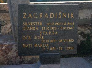 Grob borca NOV Zagradišnik Silva na pokopališču Nova Štifta