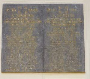 Spominska plošča padlim vojakom v 1. svetovni vojni iz Nove Štifte