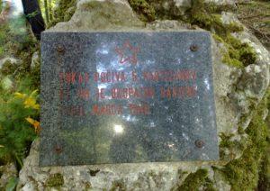 Grobišče petih neznanih padlih borcev NOV v Bočkem grabnu
