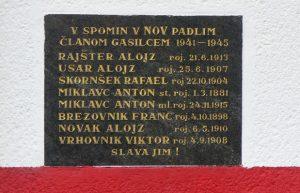Spominska plošča padlim borcem – gasilcem iz Mozirja in okolice