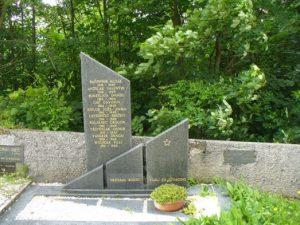 Spomenik – grobišče sedmih znanih in enega neznanega borca NOB