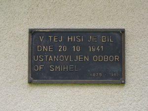 Spominska plošča na hiši Pavla Goličnika